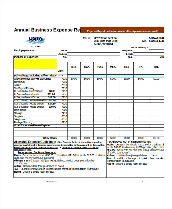 free 31  expense report examples  u0026 samples in pdf