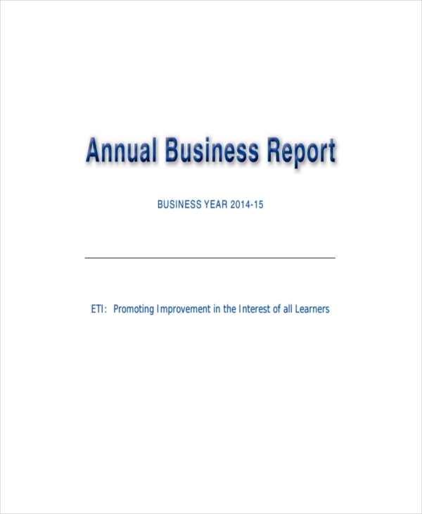 annual business report2