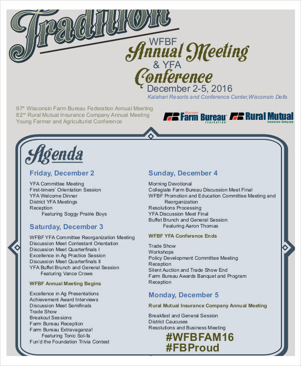 annual conference meeting agenda