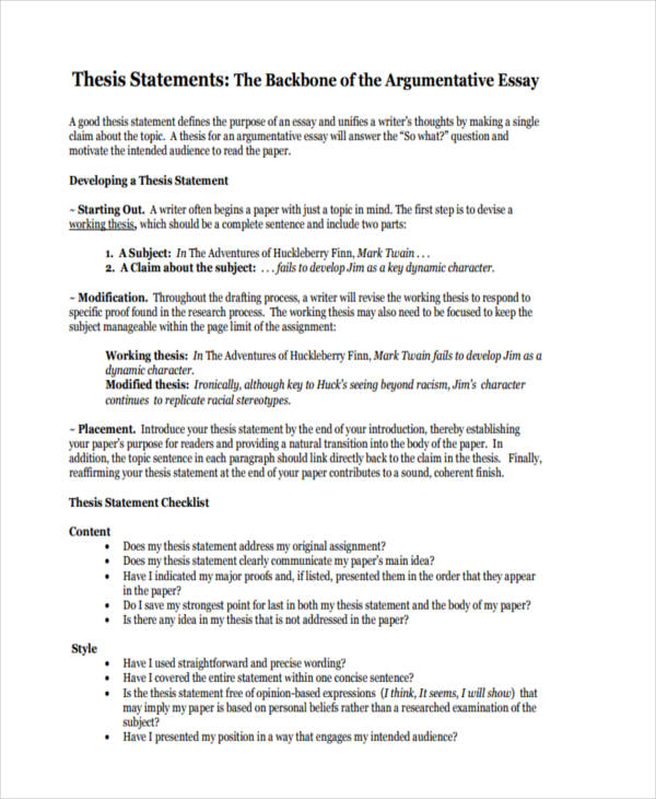 Experience Essay Argumentative Thesis Statement Essay Martin Luther King also The Outsiders Book Report Essay  Statements Examples  Samples In Pdf Moral Development Essay