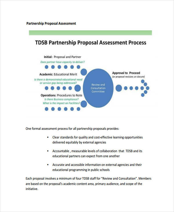 assessment partnership sample