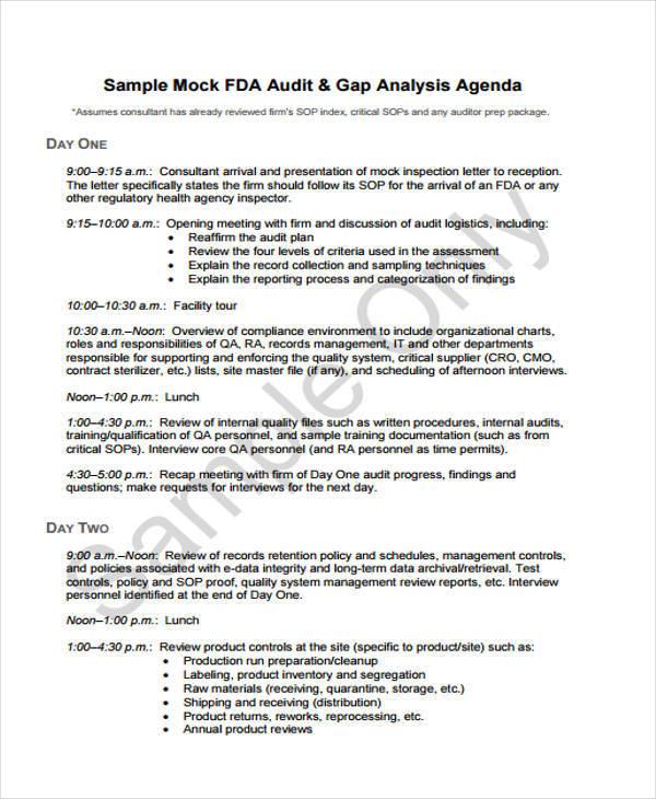 audit agenda2