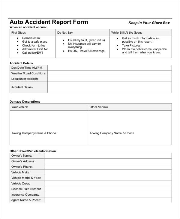 Auto-Accident-Report-Form Vehicle Expense Report Form on vehicle inventory report, vehicle damage report, vehicle incident report, vehicle accident report,
