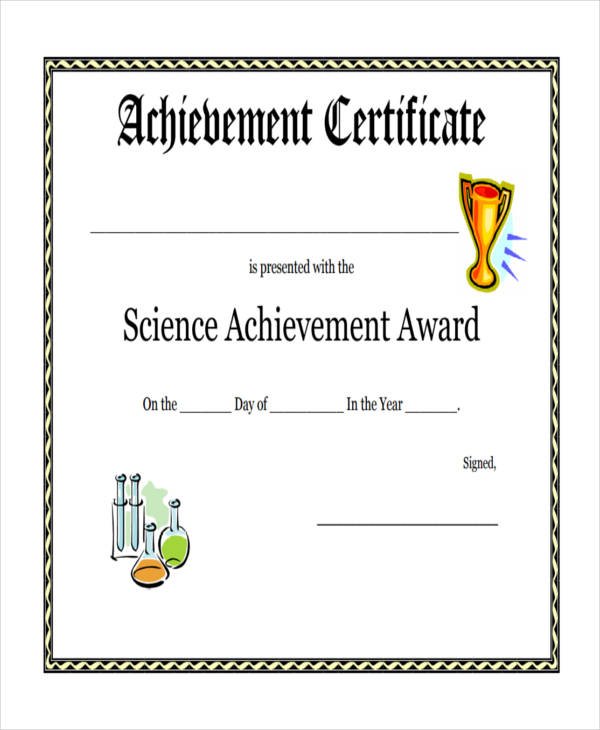 wording for award certificates