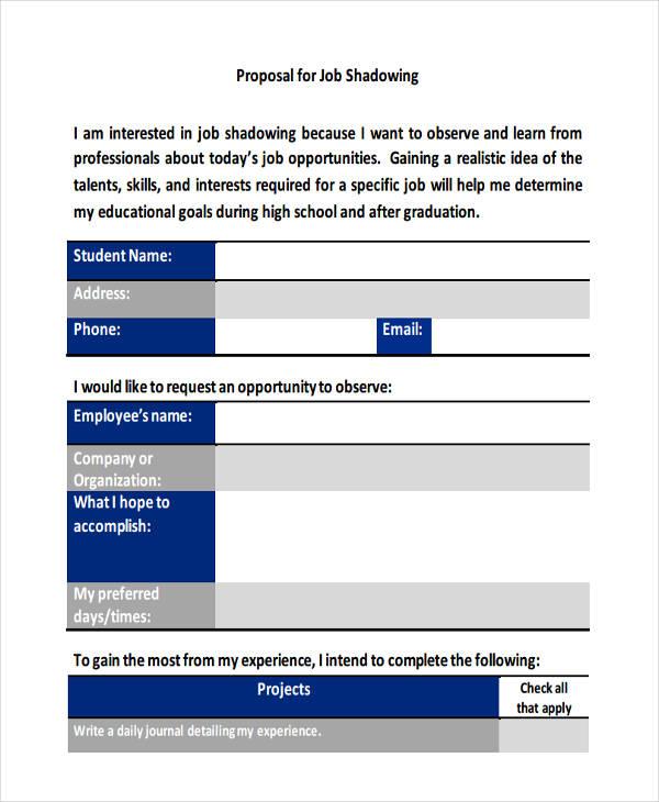 basic job proposal