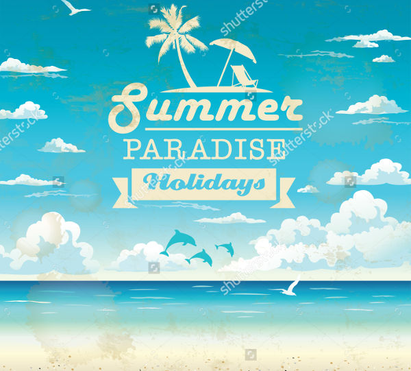 beach tourism advertising design1