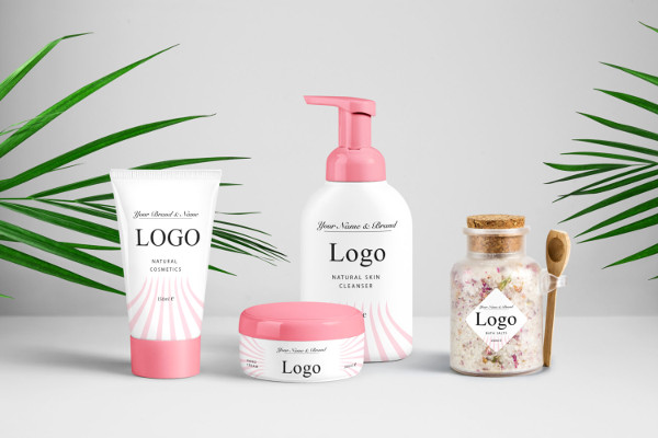 beauty product label design