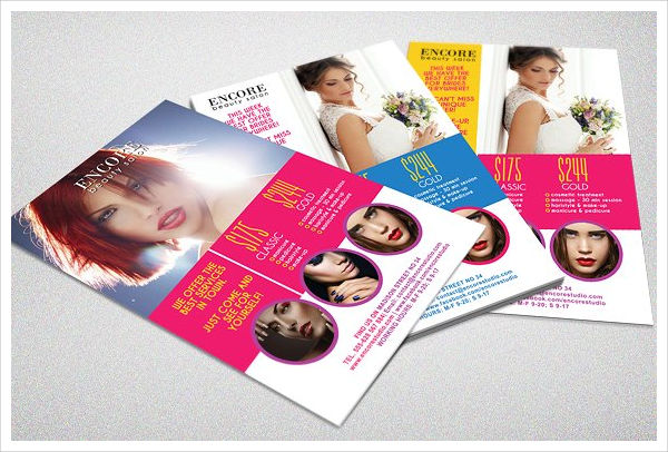 beauty salon advertising flyer