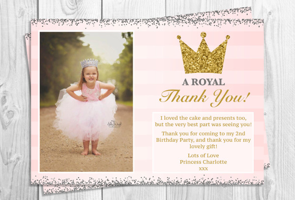30 thank you card designs and examples birthday party thank you card bookmarktalkfo Image collections