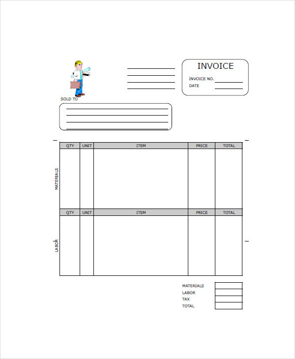 Contractor Invoice Examples Samples