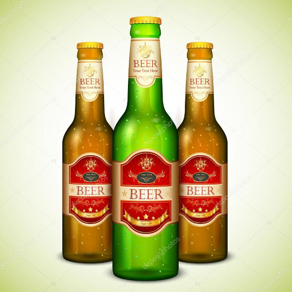 bottle label design vector