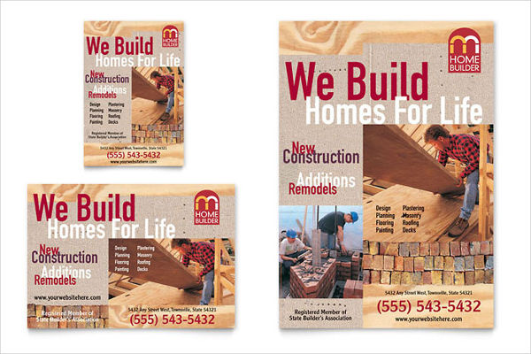 building contractor advertising flyer