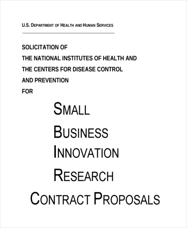 7 Contract Proposal Examples Pdf