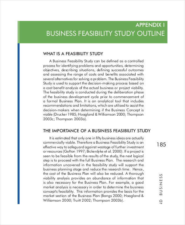 8 feasibility analysis examples samples for Business feasibility study template free download