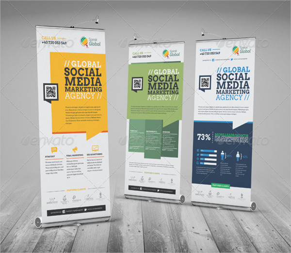 Business Marketing Roll Up Banner