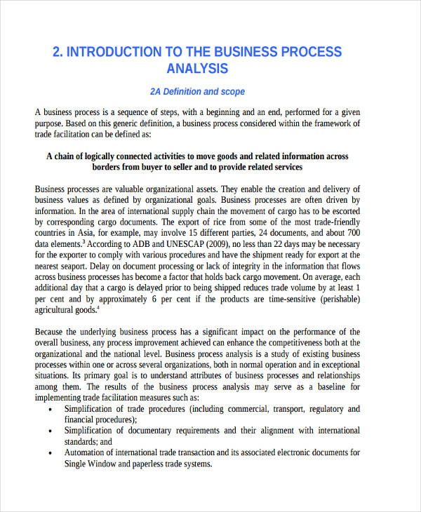 free 11  process analysis examples  u0026 samples in pdf