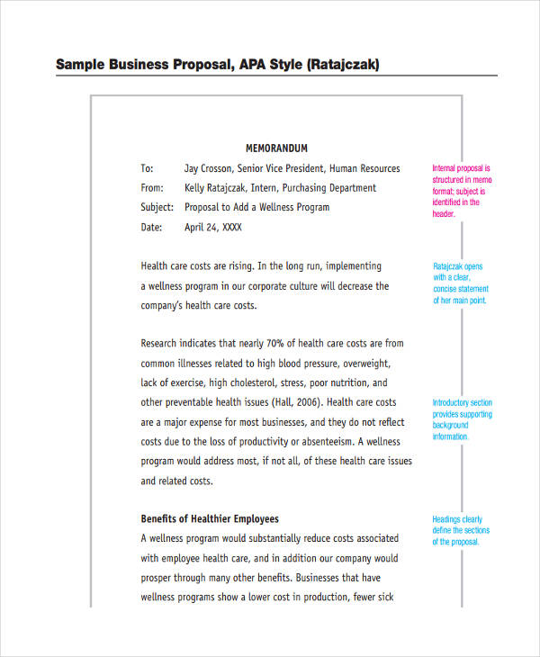 Business Proposal  Business Funding Proposal Template