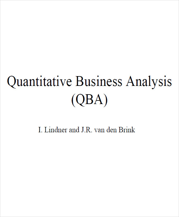 business quantitative analysis