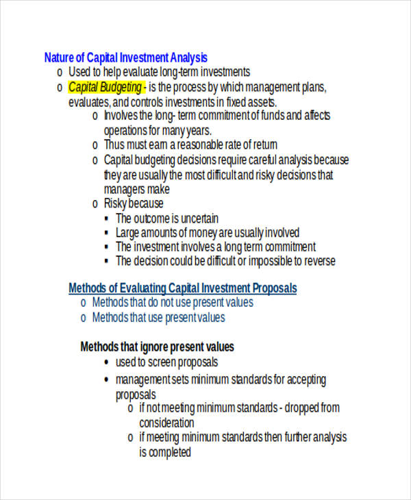 capital investment1
