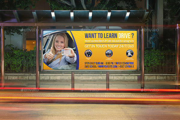 car driving school advertising design