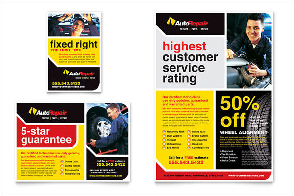car repair advertising design