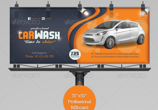 car wash advertising design