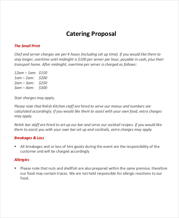 catering proposal in pdf