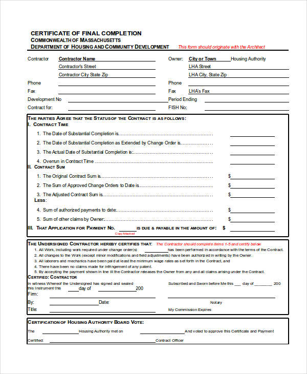 26 completion certificate examples psd pdf word certificate of final completion yadclub Choice Image