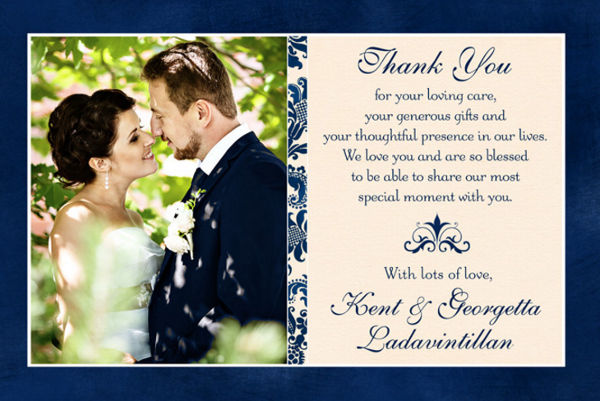 wedding photo thank you cards
