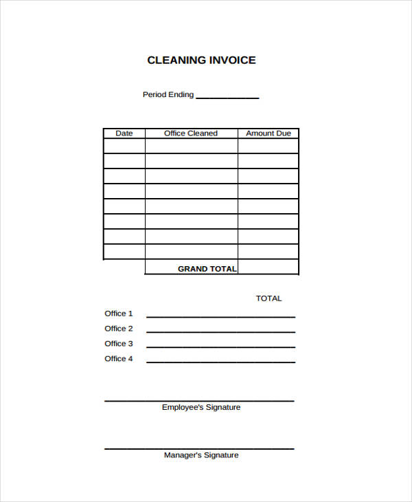 cleaning invoice1