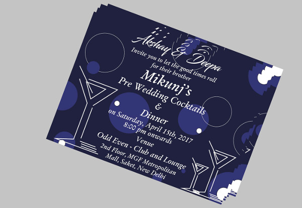 -Cocktail Party Invitation Design