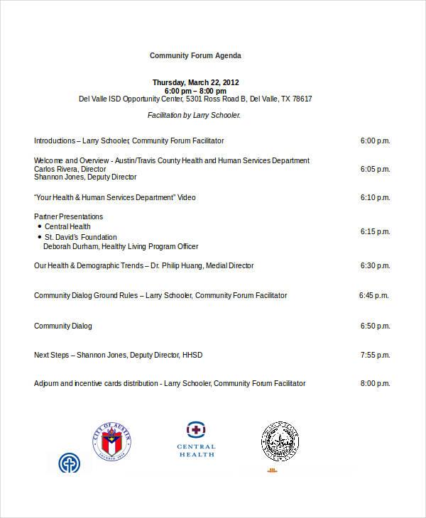 community forum agenda1