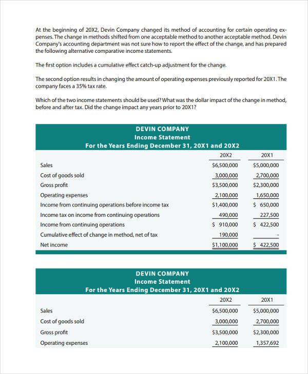 company income statement