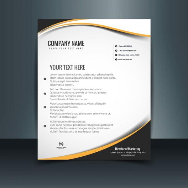 company letterhead design vector