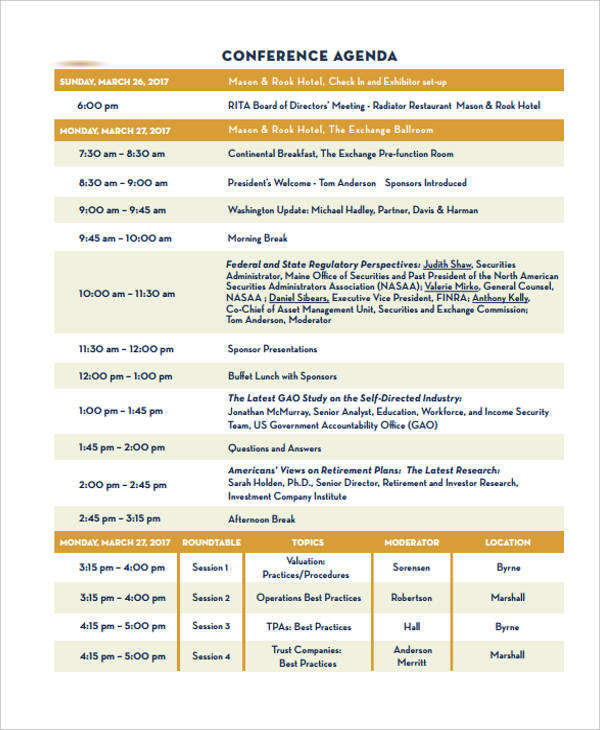 9 program agenda examples samples conference program thecheapjerseys Image collections