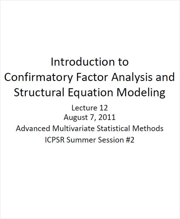 confirmatory factor