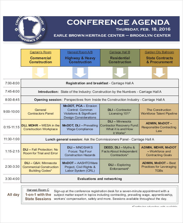 construction industry conference agenda