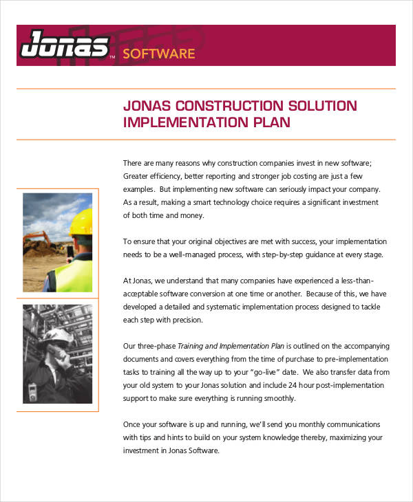39 project plan examples construction project implementation plan pronofoot35fo Images