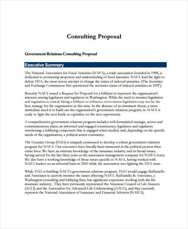 Consulting Proposal Sample  It Consulting Proposal Template