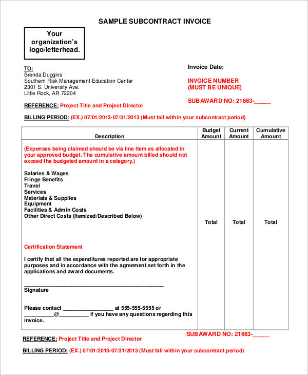 Examples Of Invoice Forms