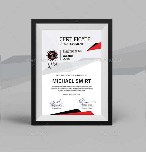 26  certification templates word  ai  psd examples
