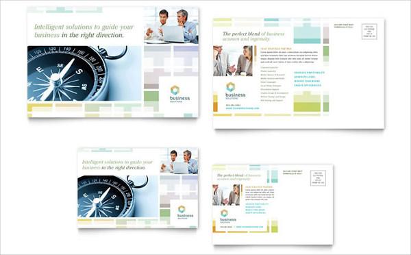 corporate consultant postcard