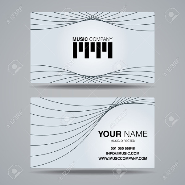 Corporate Name Card Vector