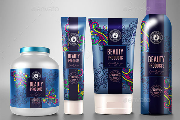 cosmetic product label design1