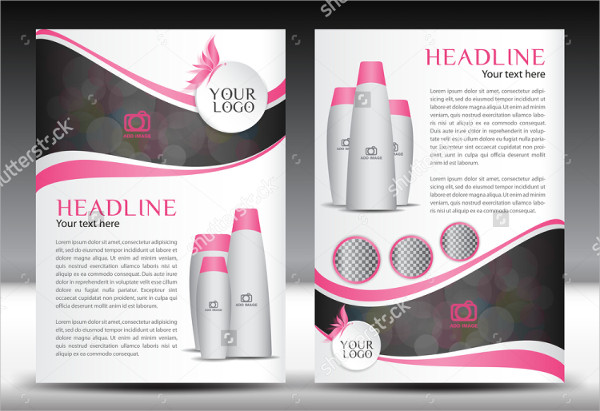 cosmetics products advertising flyer