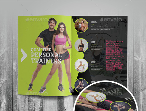 creative fitness brochure