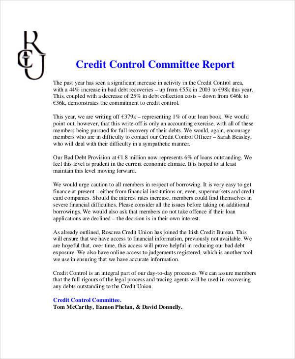 credit control report