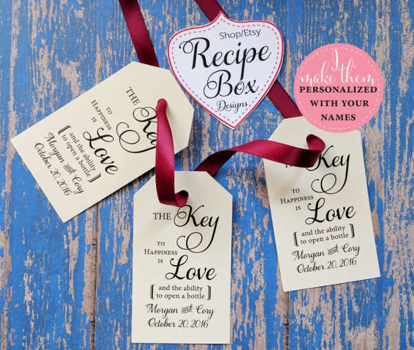 custom wedding hang tag