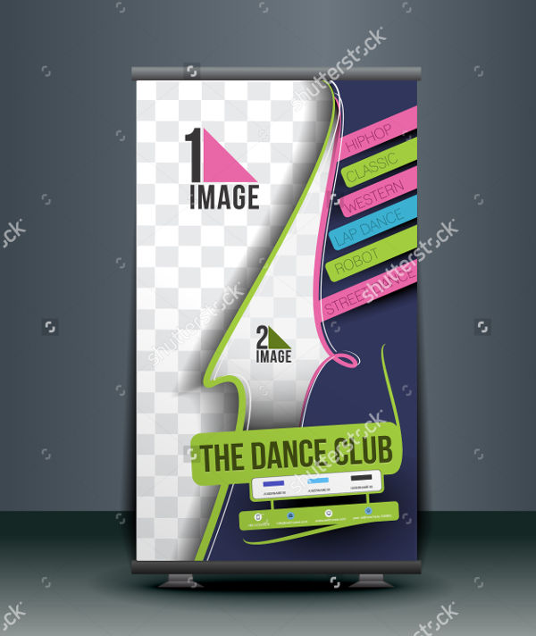 dance school advertising banner