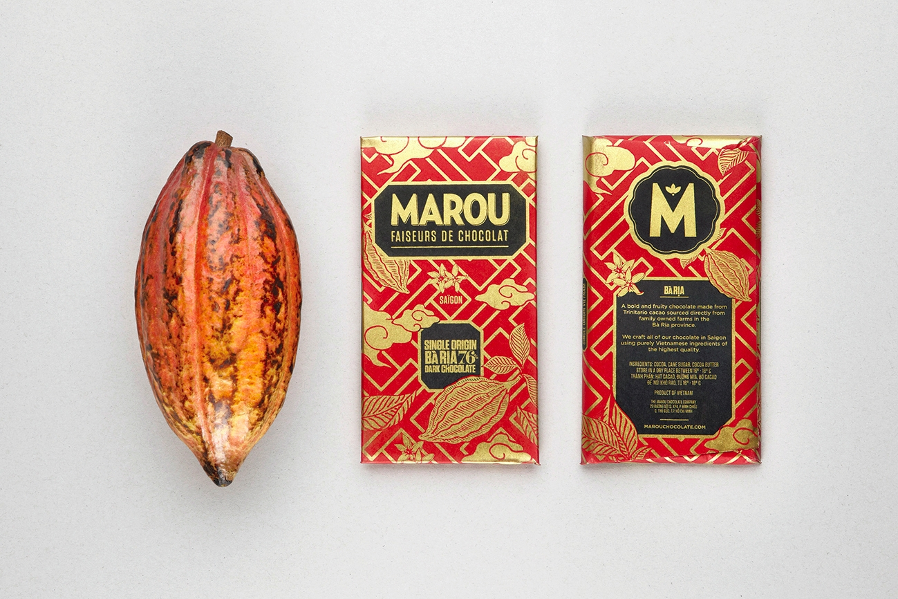 dark chocolate branding design